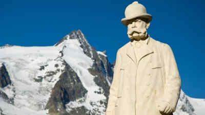 Kaiser Franz Josef Statue vor dem Grossglockner