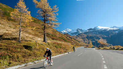 Radfahrer auf dem Grossglockner