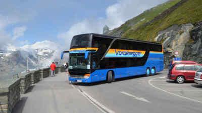 Mit dem Glocknerbus unterwegs auf der Hochalpenstraße