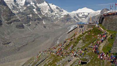Der Berglauf nahe dem mächtigen Großglockner