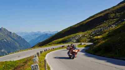Amerikanische Motorräder auf der Hochalpenstraße