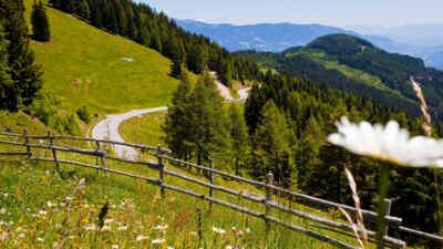 Auf der Goldeck Panoramastraße unterwegs