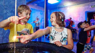 Kids in the aquapark